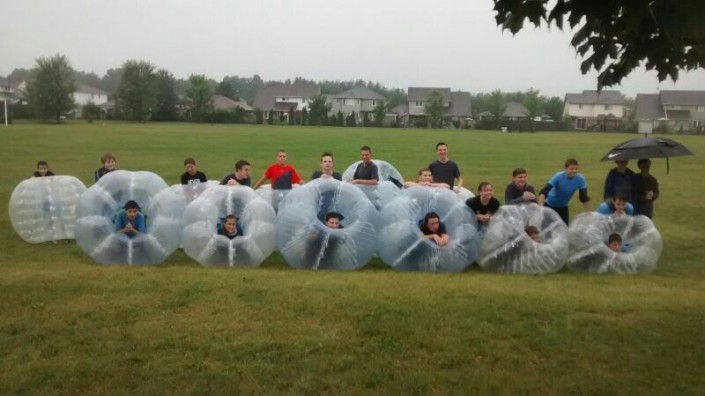 Bubble Soccer Birthday Party Team