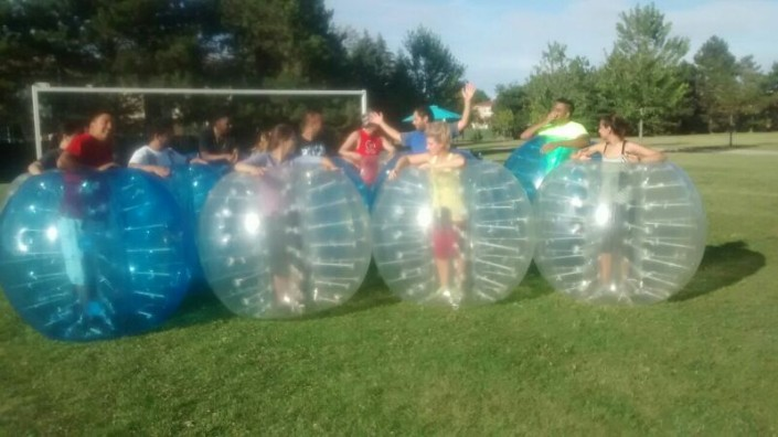 Bubble Soccer Birthday Party Team Discussion